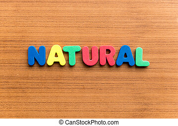 natural  colorful word