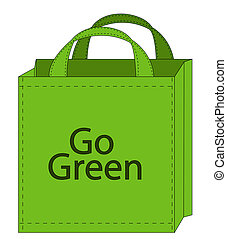 reusable shopping bag - illustration of a reusable shopping...