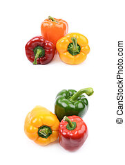 Pile of peppers isolated
