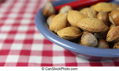 Walnuts, almonds - homemade cookie in a natural and...