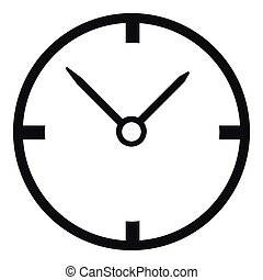 Small wall clock icon, simple style - Small wall clock icon....