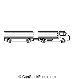 Trailer icon, outline style