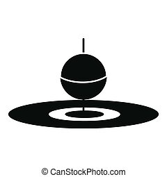 Small floating bobber icon, simple style - Small floating...
