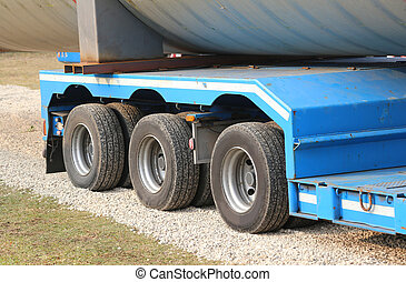 lorries for exceptional transport with many wheels - big...
