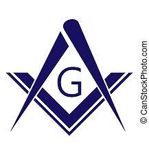 freemason symbol - blue freemason symbol illustration...