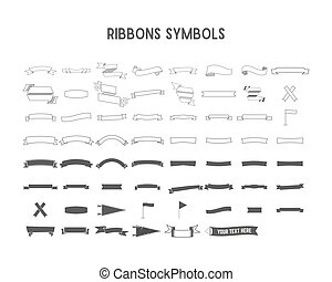 Vector collection of decorative design elements - ribbons,...