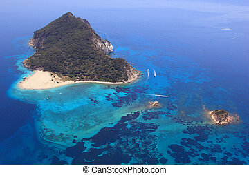 Aerial view on Zakynthos Greece - Aerial view on Zakynthos...