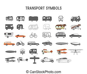Transport vector shapes and elements for creation your own...