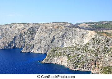 Coastline of Zakynthos, Greece - Coastline of Zakynthos...
