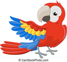 Cartoon Parrot Character