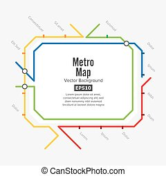 Metro Map Vector. Fictitious City Public Transport Scheme....