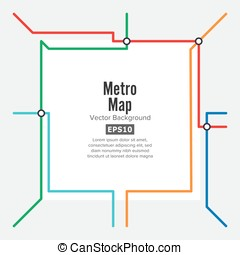 Metro Map Vector. Rapid Transit Illustration. Colorful...