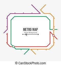 Metro Map Vector. Fictitious City Public Transport Scheme....