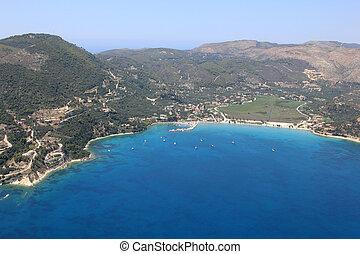Overview on Zakynthos island - Aerial view on Zakynthos...
