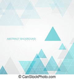 Abstract background textures by turquoise triangles.