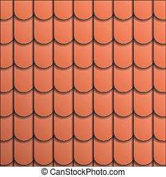 Pattern terracotta roof tile. Abstract background.