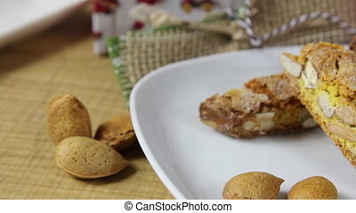 dried sweet biscuits - They are dry almond biscuits, made by...