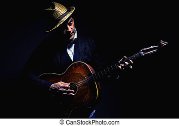 Portrait of a Musician From Vojvodina, Serbia - Traditional...
