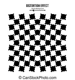 Optical Illusion. Vector 3d Art. Distortion Dynamic Effect....