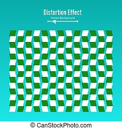 Optical Illusion. Vector 3d Art. Motion Dynamic Effect. Movement Executed In The Form. Geometric Magic Background.