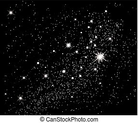 Stars in the sky. Vector background.
