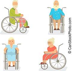 Retired elderly seniors - Banner of Retired elderly senior...