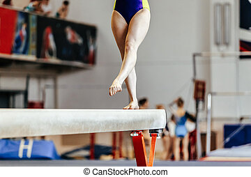 young girl athlete gymnast