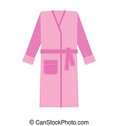 Cozy tabby bathrobe vector illustration - Cozy tabby pink...