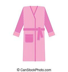 Cozy tabby bathrobe vector illustration - Cozy tabby pink...