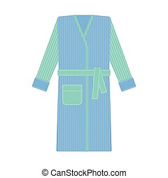 Cozy bathrobe vector illustration. Robe, nightwear - Cozy...