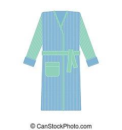 Cozy bathrobe vector illustration. Robe, nightwear - Cozy...