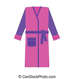Cozy tabby bathrobe vector illustration - Cozy stripy...