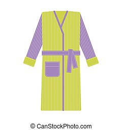 Cozy tabby bathrobe vector illustration - Cozy tabby...