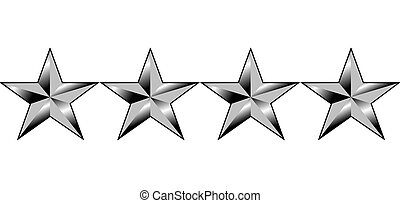 American generals four stars - Illustration of four stars of...