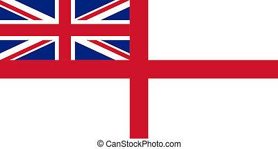 British Royal Navy flag - British Royal Navy ensign or flag...