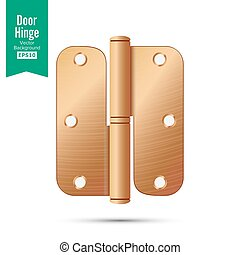 Door Hinge Vector. Classic And Industrial Ironmongery...