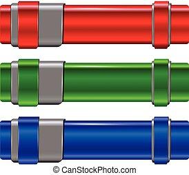 Banners metallic set