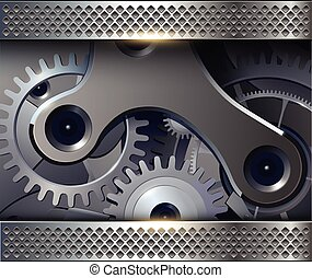 Abstract background with gears - Abstract background with...