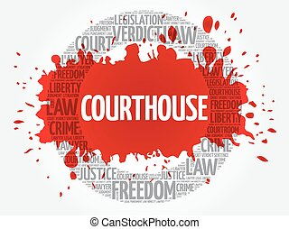 Courthouse word cloud concept