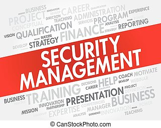 Security Management word cloud collage