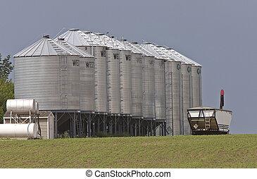 農業, 儲存, 箱子, 谷倉