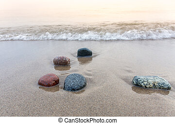 Stones on a Lake Huron Beach - Grand Bend, Ontario