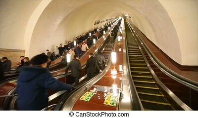 Moscow Metro - number one metro in world , very beautiful...