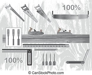 Pick up the best tool and make a masterpiece of wood - set...