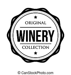 Winery logo vintage isolated label vector
