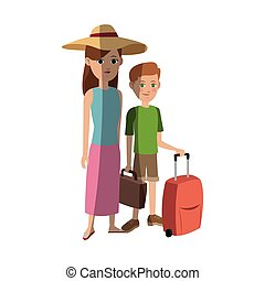 people traveling design