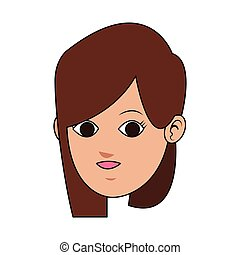 face of young woman icon image
