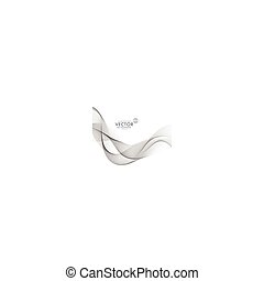 abstract gray wave background design