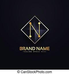 letter N premium logo design template