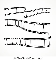 collection of vector film strips